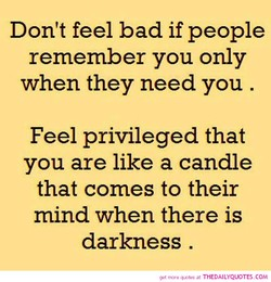 Don't feel bad if people 
