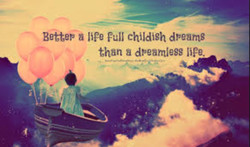 Better a lift Full childish dreams 