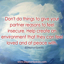 Don't do things to give your 