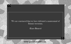 We are convinced that we have defeated a mastennind Of 
