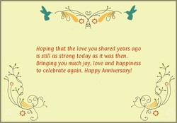 Hoping that the love you shared years ago 