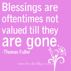 Blessings are 