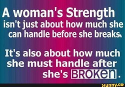A woman's Strength 