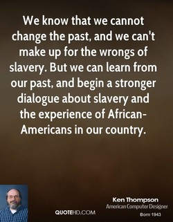 We know that we cannot 