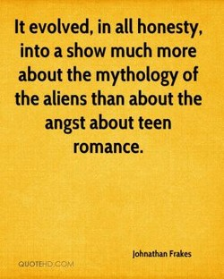 It evolved, in all honesty, 