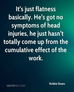 It's just flatness