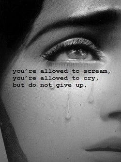 you're allowed to scream, 