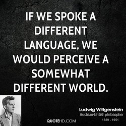 IF WE SPOKE A 