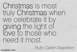 Christmas is most 