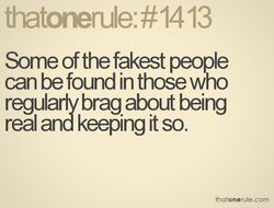 Some of the fakest people 