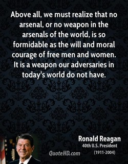 Above all, we must realize that no 