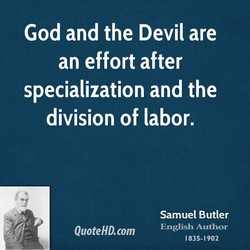 God and the Devil are 