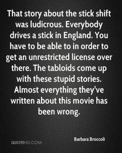 That story about the stick shift 