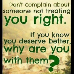 Don't complain about 