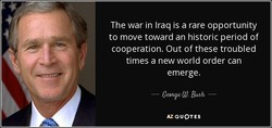 The war in Iraq is a rare opportunity 