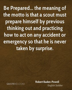 Be Prepared... the meaning of 