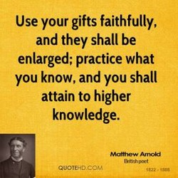 Use your gifts faithfully, 