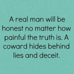 A real man will be 