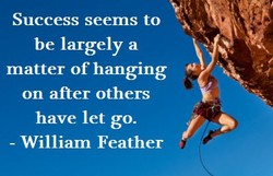 Success seems to