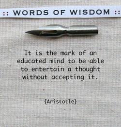 WORDS OF WISDOM . 