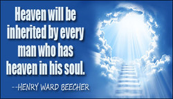 Heaven will be 
