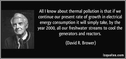 All I know about thermal pollution is that if we 
