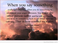 When you say something 