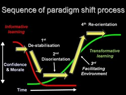 Sequence of paradigm shift process 