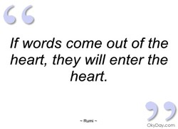 If words come out of the 