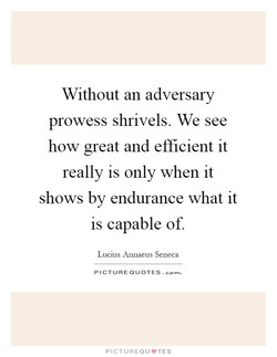 Without an adversary 