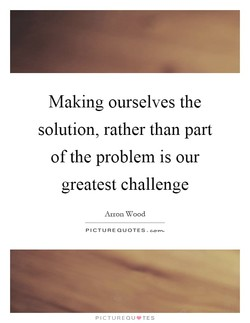 Making ourselves the 