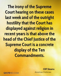 The irony of the Supreme 