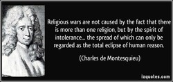 Religious wars are not caused by the fact that there 