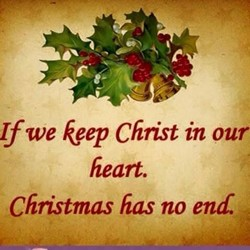 If we keep Christ in our 