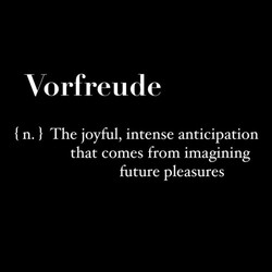 Vorfreude 