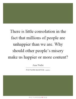 There is little consolation in the 