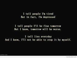 I tell people I'm tired 