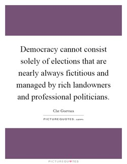 Democracy cannot consist 