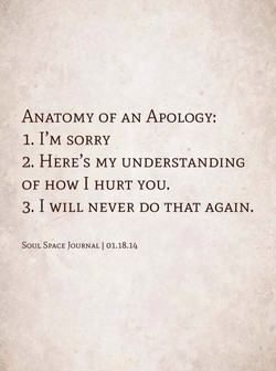 ANATOMY OF AN APOLOGY: 