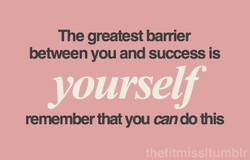 The greatest barrier 