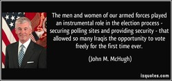The men and women of our armed forces played 