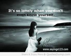 It's so lonely when 