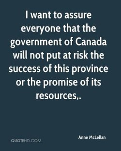I want to assure 