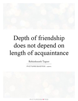 Depth of friendship 