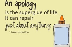 An apology 
