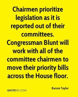 Chairmen prioritize