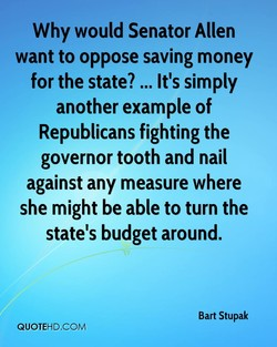 Why would Senator Allen 