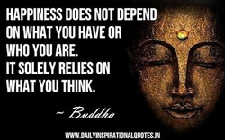 HAPPINESS DOES NOT DEPEND