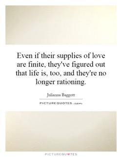 Even if their supplies of love 
