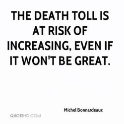 THE DEATH TOLL IS 